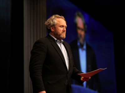 Andrew Breitbart speaks at the 2012 CPAC in Washington, DC.