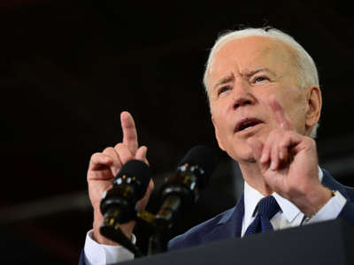 President Joe Biden speaks in Pittsburgh, Pennsylvania, on March 31, 2021.