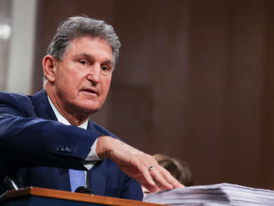 Sen. Joe Manchin speaks on Capitol Hill on December 14, 2020, in Washington, D.C.