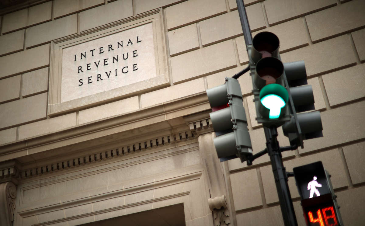 The Internal Revenue Service headquarters is pictured on April 27, 2020, in the Federal Triangle section of Washington, D.C.