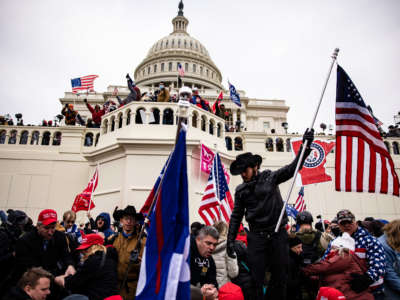 Pro-Trump supporters storm the U.S. Capitol following a rally with then-President Donald Trump on January 6, 2021, in Washington, D.C.