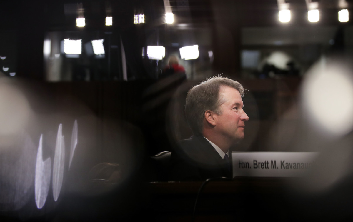 Judge Brett Kavanaugh listens to opening statements during his Supreme Court confirmation hearing before the Senate Judiciary Committee in the Hart Senate Office Building on Capitol Hill, September 4, 2018, in Washington, DC.
