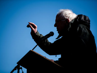 Sen. Bernie Sanders (I-VT) addresses the crowd during the annual Martin Luther King Jr. Day at the Dome event on January 21, 2019, in Columbia, South Carolina.