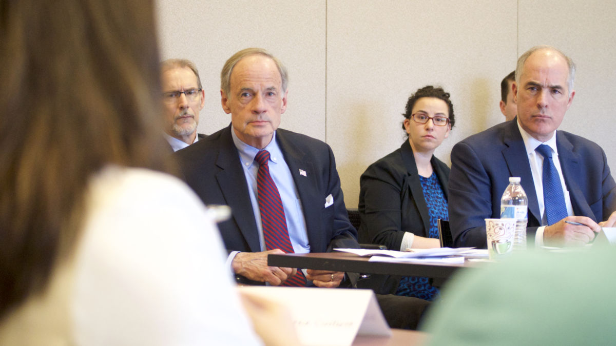 PA Sen Casey, Carper hold Roundtable on PFAS water contemoination Crisis in Pennsylvania