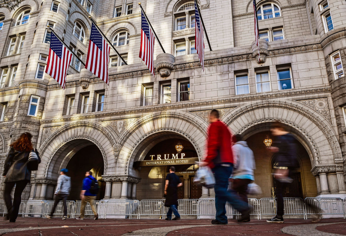 A view of the Trump International Hotel in Washington, D.C., on November, 18, 2016.