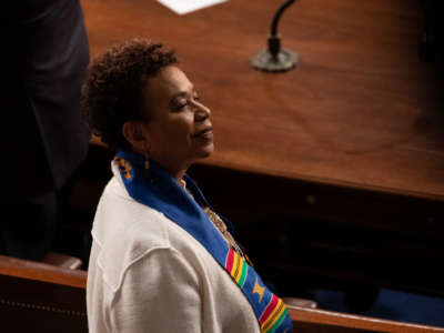 Rep. Barbara Lee stands at the U.S. Capitol in Washington, D.C., on February 5, 2019.