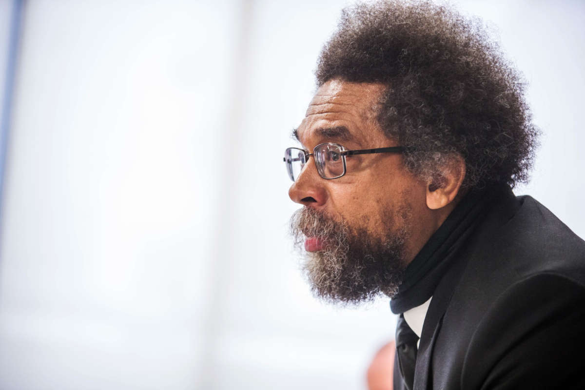 Cornel West speaks during a press conference at The National Press Club on September 15, 2016, in Washington, D.C.