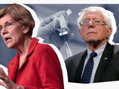 Sens. Elizabeth Warren and Bernie Sanders have joined with other leading Democrats and public health organizations to deliver a petition demanding the U.S. drop its opposition to a temporary waiver on international patent rights for COVID vaccines and treatments.