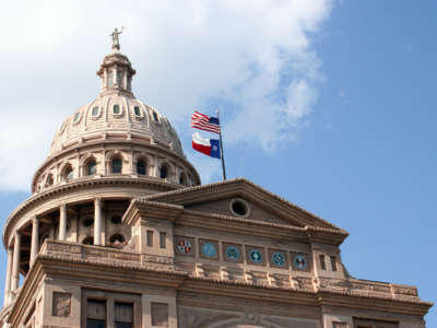 The State Capitol Building in downtown Austin, Texas.