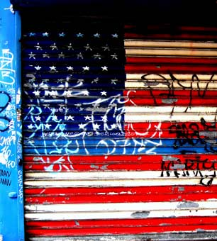 USA flag graffiti