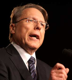 Wayne LaPierre of the NRA speaking at CPAC FL in Orlando, Florida.