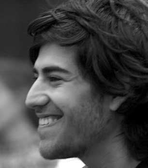 Aaron Swartz at a 2008 Creative Commons panel.