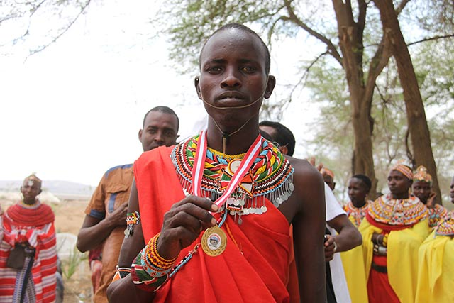 23-year-old Samburu warrior Raine Lempaira. (Photo: Maria Davis)