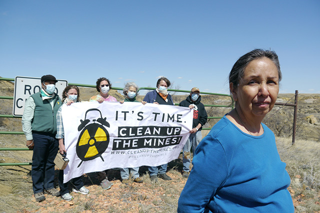 Clean Up The Mines! team at Riley Pass, SD. Charmaine White Face is in the foreground. (Photo: Ellen Davidson)