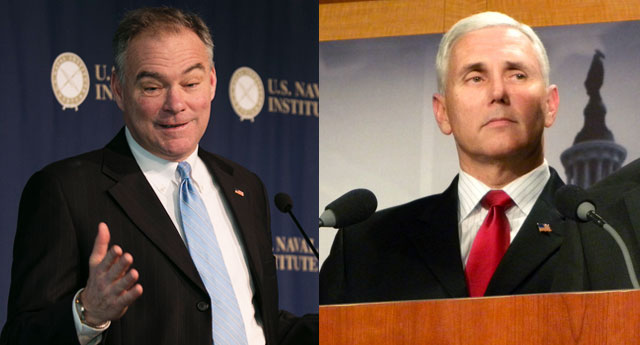 As strange as it sounds, under the arcane rules of the US Electoral College, vice presidential nominees Tim Kaine (left) or Mike Pence could end up as president.