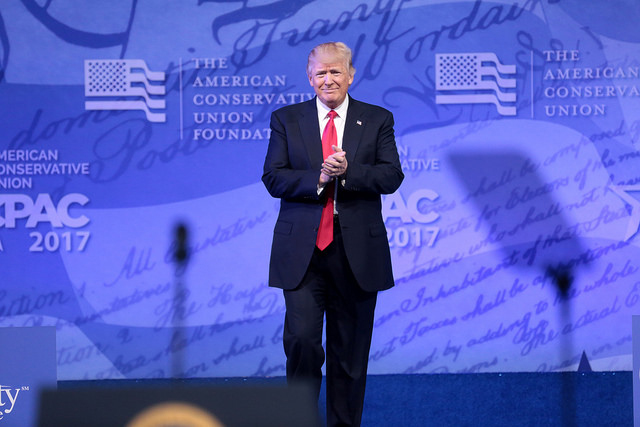 Donald Trump speaks at the 2017 Conservative Political Action Conference on February 24, 2017, in National Harbor, Maryland. (Photo: Gage Skidmore)