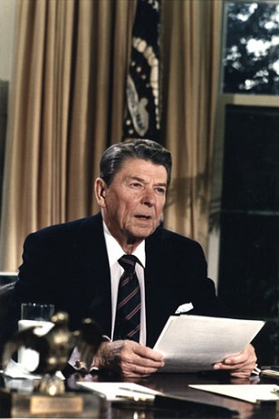 President Ronald Reagan, 1986. (Photo: <a href=
