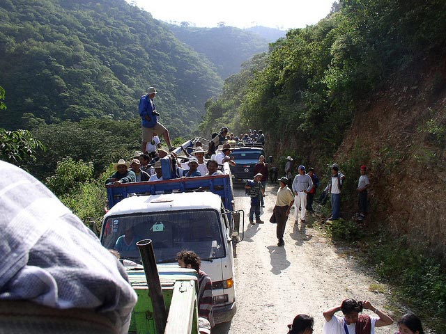4th Meeting of Latin America Network Against Dams and For Rivers held in Colonia el Naranjo, Guatemala in October 2005.