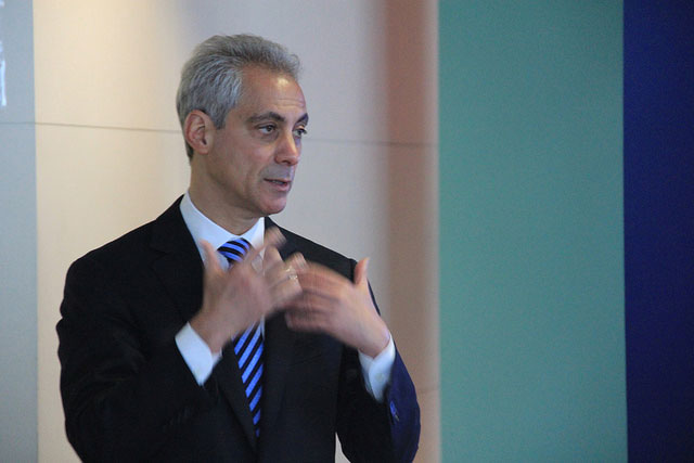 Chicago maroy Rahm Emanuel. (Photo: Daniel X. O'Neil)