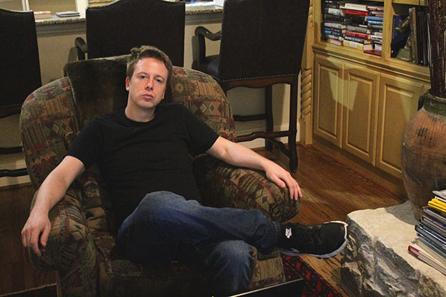 Barrett Brown at his residence in Dallas, Texas, on Saturday, May 20, 2017. (Photo: Candice Bernd)
